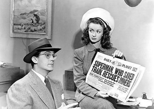Noel Neill--and Clark Kent