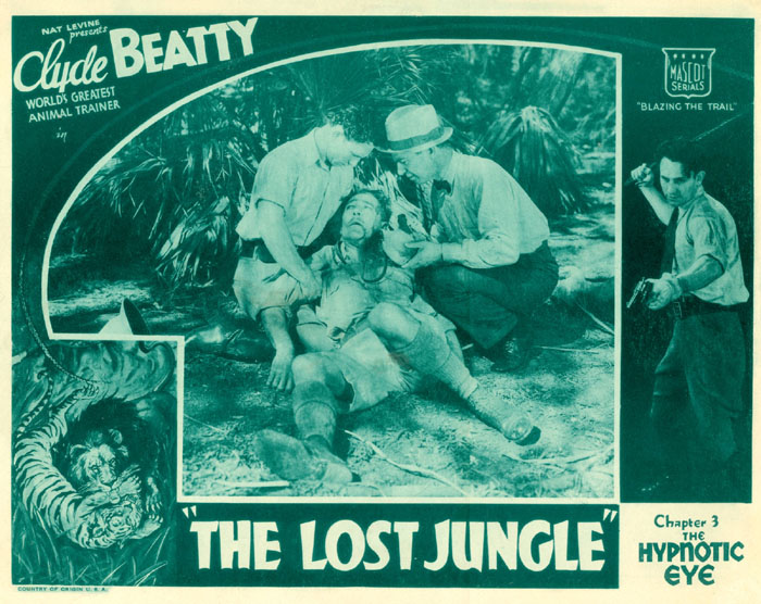 Syd Saylor--Lost Jungle lobby card