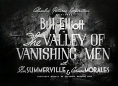 Valley of Vanishing Men titles