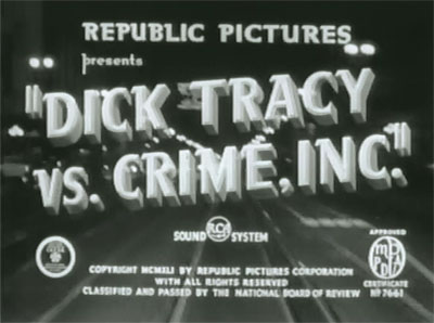 Dick Tracy vs. Crime Inc.--titles