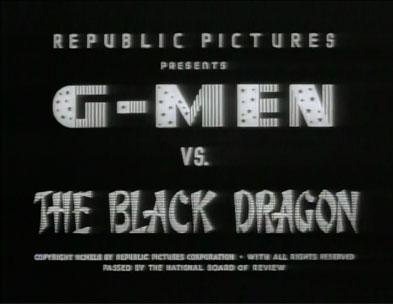 G-Men vs. the Black Dragon titles