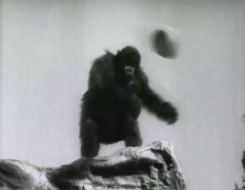 Tim Tyler's Luck--gorilla attack 1