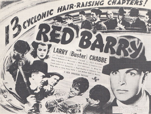 Red Barry--title card