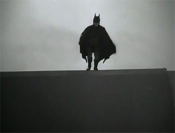 Batman--Batman makes an entrance