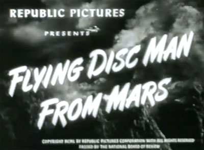 Flying Disc Man from Mars--titles