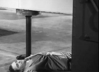 Flying Disc Man From Mars--warehouse door