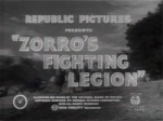 Zorro's Fighting Legion--titles