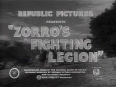 Zorro's Fighting Legion--titles