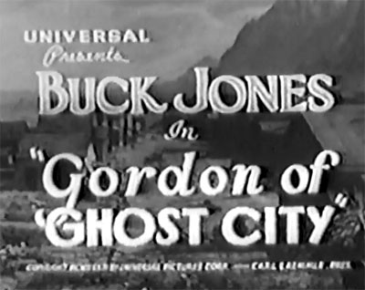Gordon of Ghost City--titles