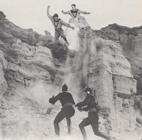 Buck Rogers--stunt shot