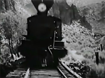 Roar of the Iron Horse--trestle cliffhanger 2