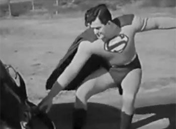 Superman--car stop