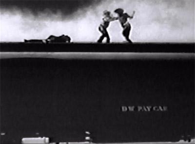 Deadwood Dick--fight on train