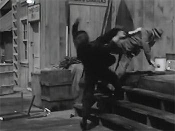 Government Agents vs. Phantom Legion--dockyard fight