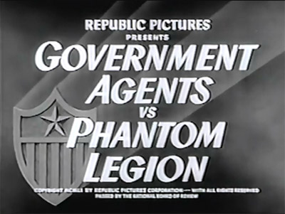 Government Agents vs. Phantom Legion--titles