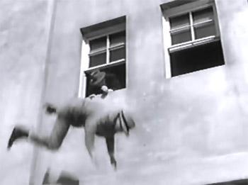 Government Agents vs. Phantom Legion--window fall cliffhanger 2