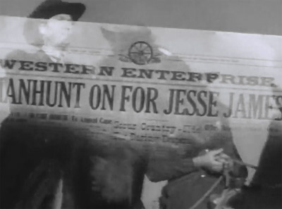 Jesse James Rides Again--headline
