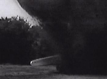 Flying G-Men--bombing shot