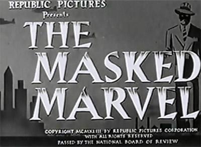 Masked Marvel titles