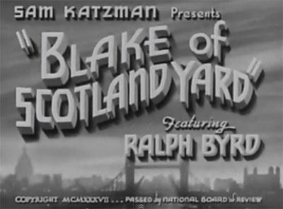 Blake of Scotland Yard--titles