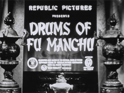 Drums of Fu Manchu--titles