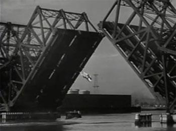 Green Hornet Strikes Again--drawbridge cliffhanger