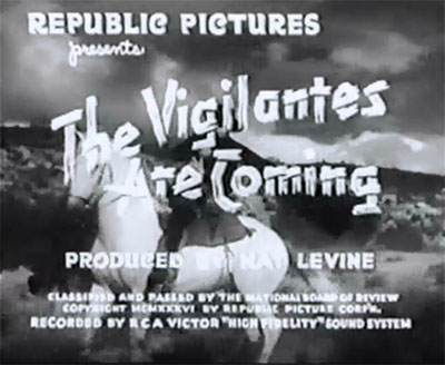 Vigilantes Are Coming--titles