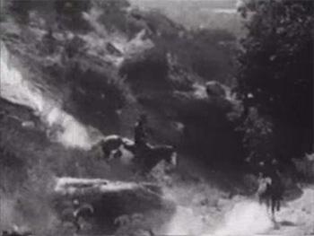 Zorro Rides Again--horseback chase