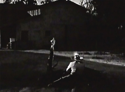 Adventures of Frank and Jesse James--street gunfight