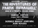 Adventures of Frank Merriwell--titles