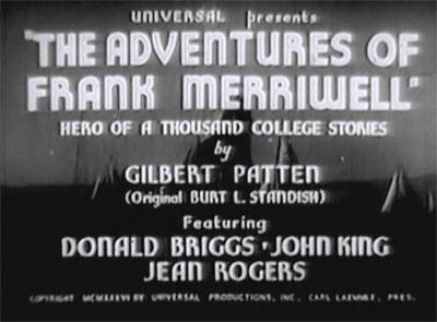 Adventures of Frank Merriwell--titles