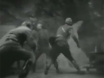 Canadian Mounties vs. Atomic Invaders--fistfight
