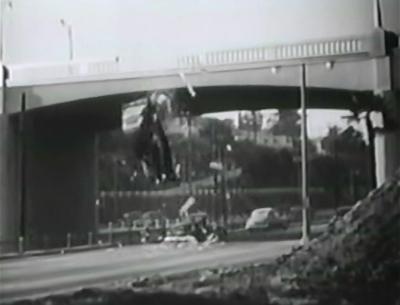 Gang Busters--car-crash cliffhanger