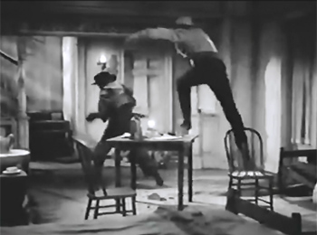 James Brothers of Missouri--ranch house fight