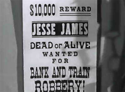 James Brothers of Missouri--wanted poster