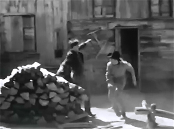 James Brothers of Missouri--woodpile fight