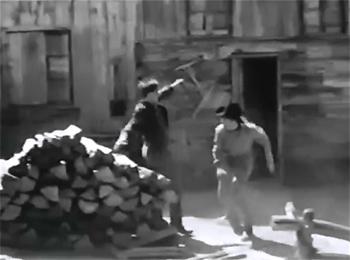 James Brothers of Missouri--woodpile fight