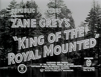 King of the Royal Mounted--title card