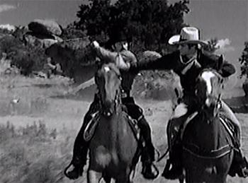 King of the Texas Rangers--horseback fight