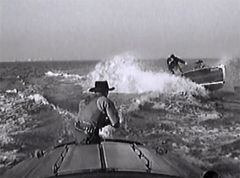 King of the Texas Rangers--motorboat chase
