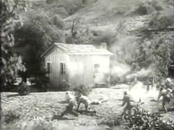 Overland Mail--attack on canyon