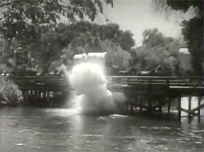 Overland Mail--bridge explosion
