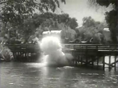 Overland Mail--bridge explosion