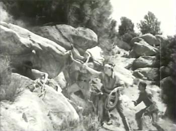 Overland Mail--hillside shootout
