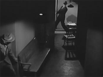 The Crimson Ghost--hallway pursuit