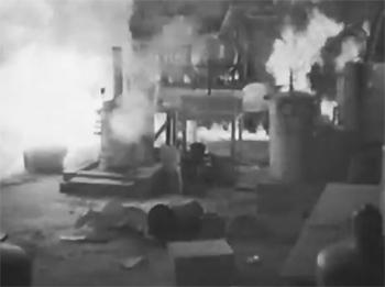 The Crimson Ghost--lab explosion