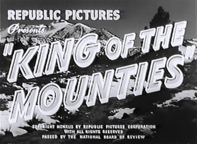 King of the Mounties--titles