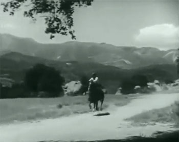 Raiders of Ghost City--chase scene