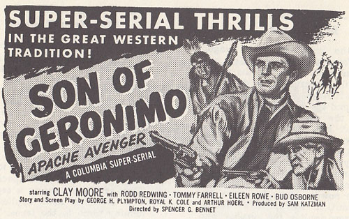 Son of Geronimo--pressbook ad