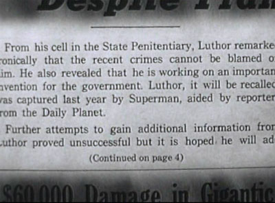 Atom Man vs. Superman--newspaper clipping